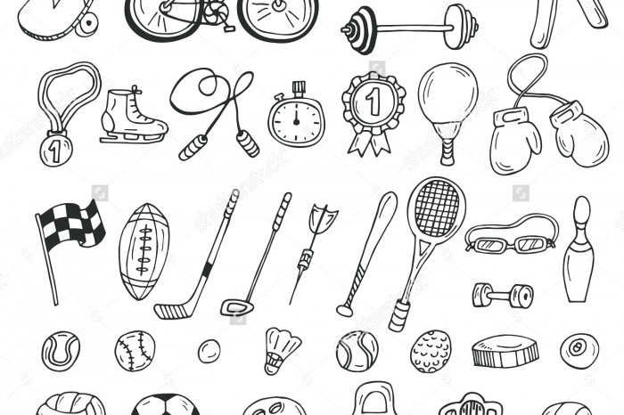 stock-vector-hand-drawn-sport-icon-set-fitness-and-sport-vector-illustration-277227656