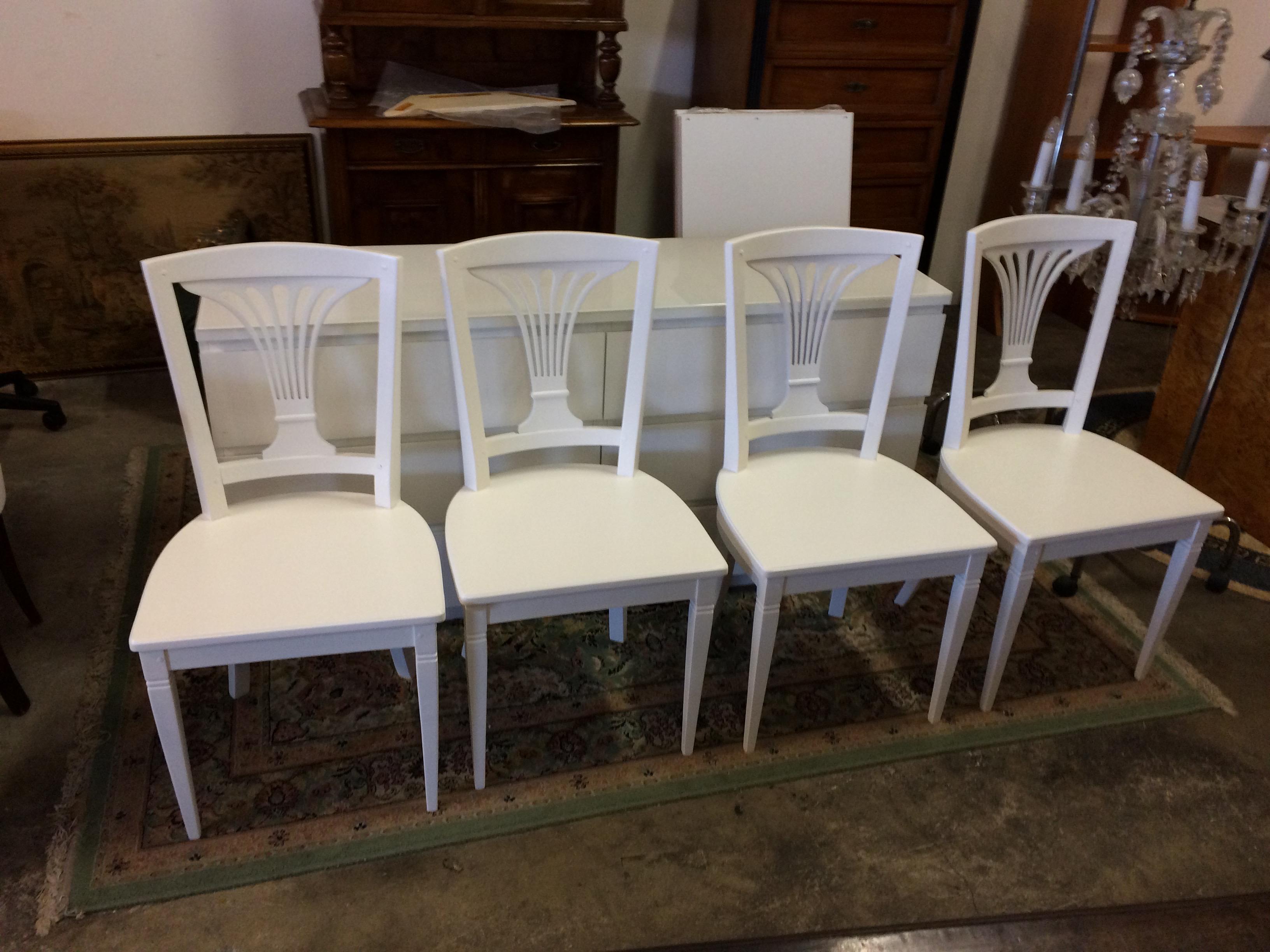 Sedie Bianche Usate : Sedie in legno bianche usate a treviso portobello vintage