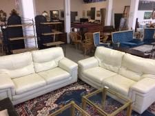 Coppia divani in pelle usati a Treviso